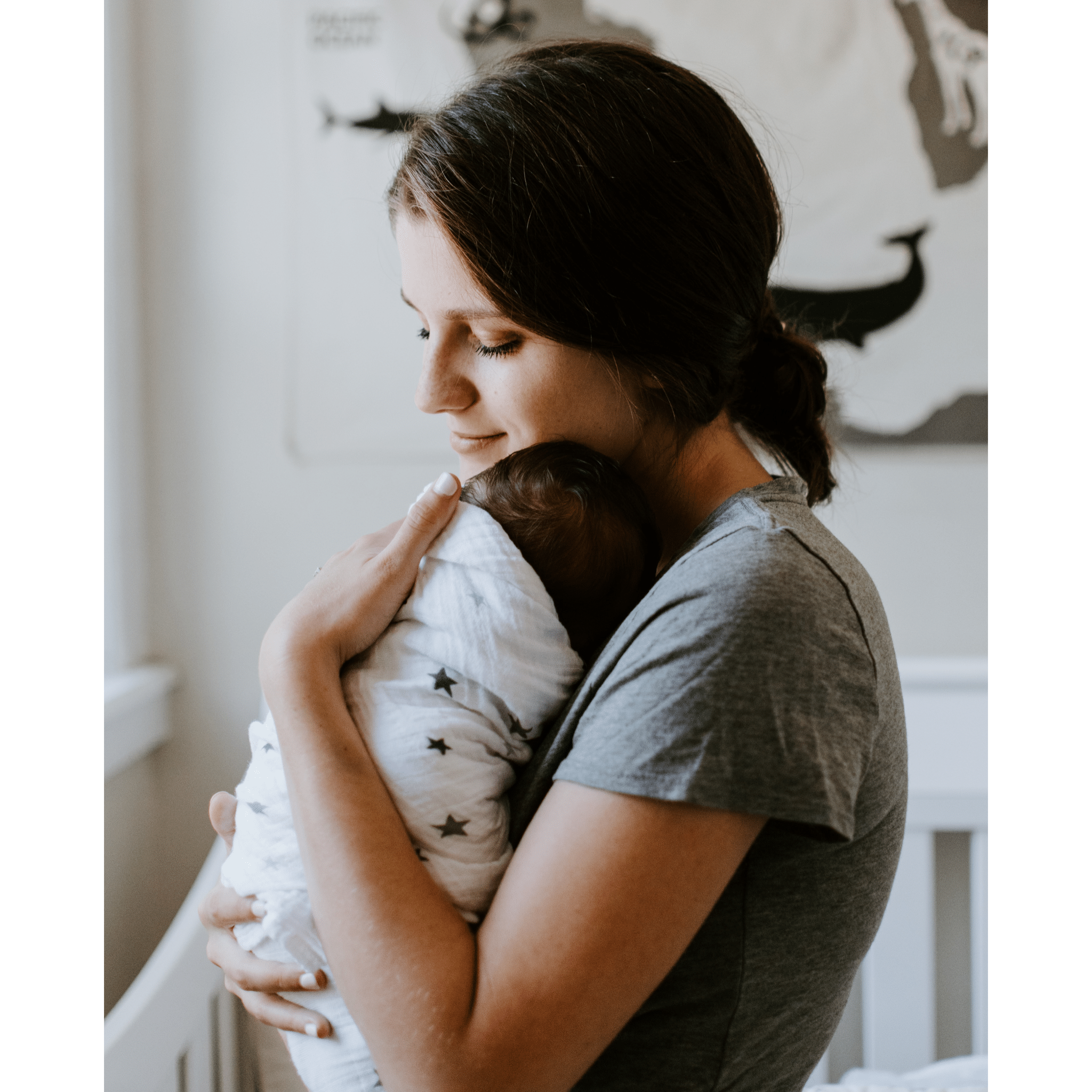 Oklahoma Postpartum Doula Services caring for newborn
