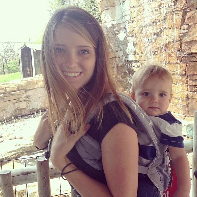 Jenni Jenkins Baby wearing OKC